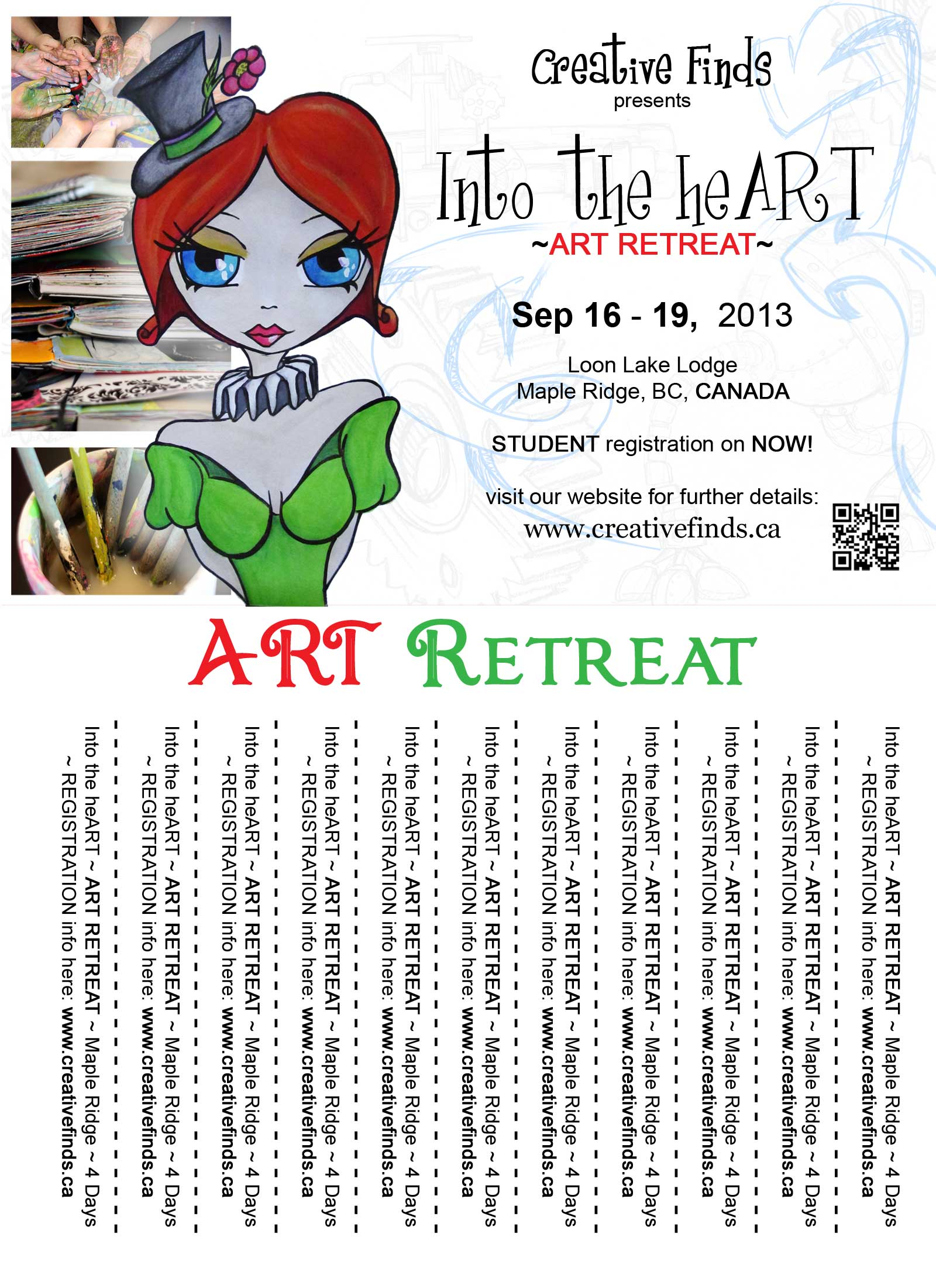 CLICK HERE for our printable ART Retreat  promo sheet (pdf)